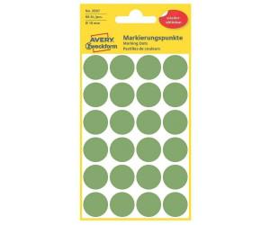 AVERY Zweckform Markierungspunkte ablösbar 18 mm grün 96 Stück