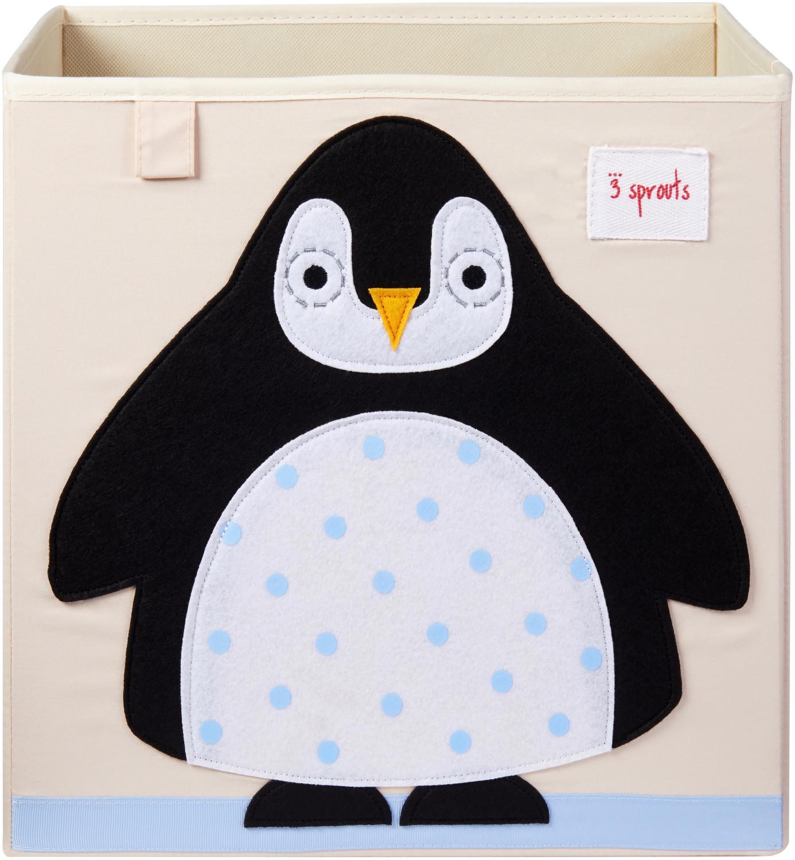 3 Sprouts Aufbewahrungsbox 33x33x33cm Pinguin