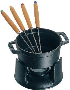 Staub Mini-Schokofondue-Set schwarz