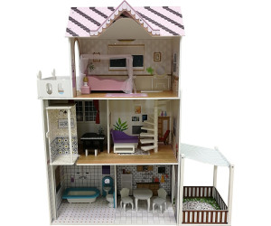 myToys Puppenhaus mit Garten und Möbel