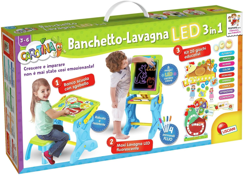 Lisciani Carotina Banchetto-Lavagna LED 3 in 1