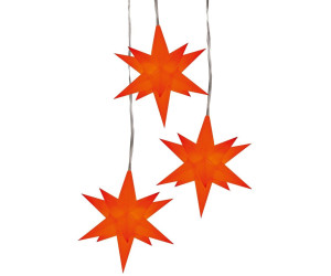 HGD LED-Weihnachtsstern rot (3er Set)