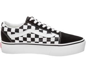 scarpe VANS Old Skool Platform (Checkerboard) BlackTrue White