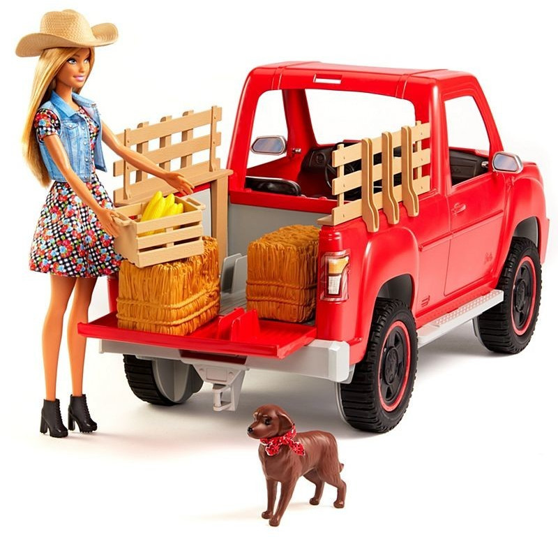Image of Barbie Barbie Sweet Orchard Farm Doll, Vehicle and Accessories (GFF52)