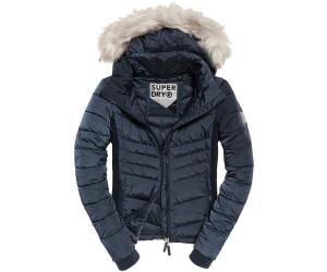 superdry luxe fuji jacke mit kapuze blau