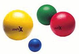 softX Schaumstoff-Ball 21 cm mit Haut