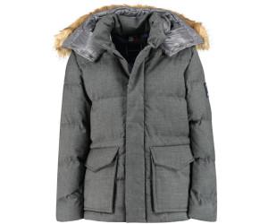 Tommy Hilfiger Icon Faux Fur Hooded Puffer Jacket dark grey