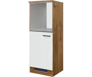 Midi-Kühlschrank und Herdumbauschrank Küche LUCCA 60 cm breit Weiß