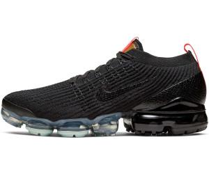 men's nike air vapormax flyknit 3 running shoes black/black/igloo/flash crimson