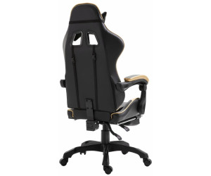 vidaXL Gaming Chair PU with Footrest Gold (20218) ab 145,99