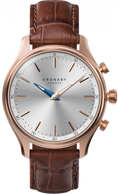 Image of Kronaby Sekel 38mm rose gold - Dark Brown Leather