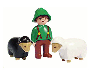 Playmobil 1.2.3 Boy and Sheep (6731)