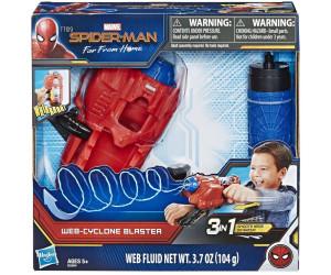 Mehrfarbig SPIDER-MAN Far From Home Zyklon-Blaster mit Web Fluid Spielset
