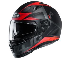 Schwarz//Grau//Rot HJC Motorradhelm i70 CRAVIA MC1SF XL