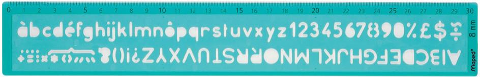 Maped Schriftschablone Schrifthöhe: 8cm grün-transparent (258608)
