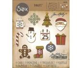 SIZZIX Bigz Stanzschablone Rentier 7 Teile Papier stanzen Weihnachten