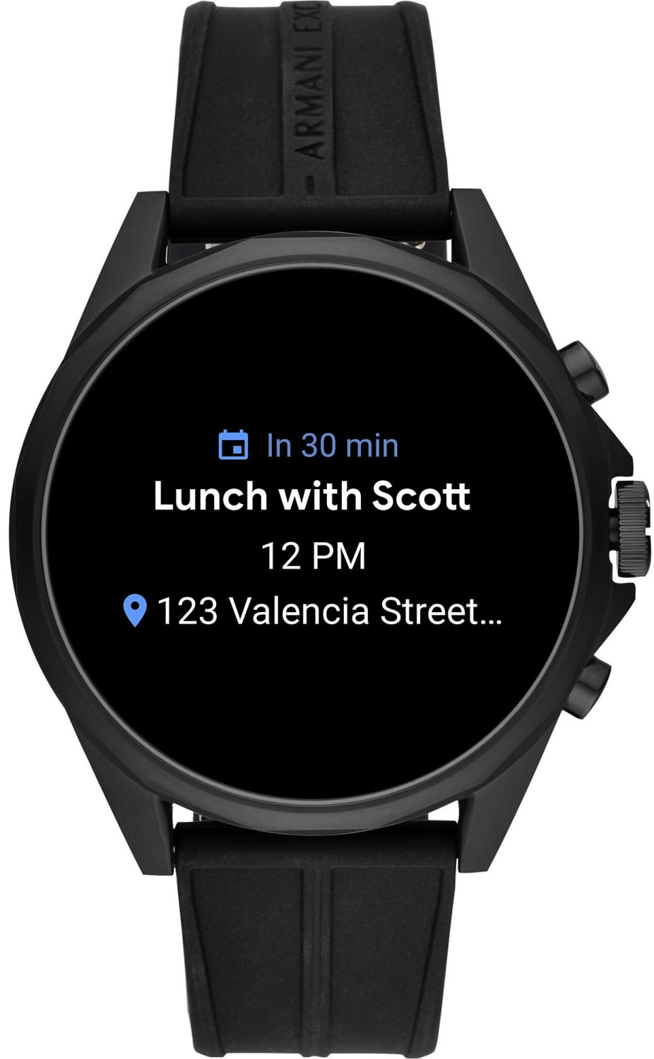 Image of Armani Exchange Connected Touchscreen 46mm Black (AXT2007)