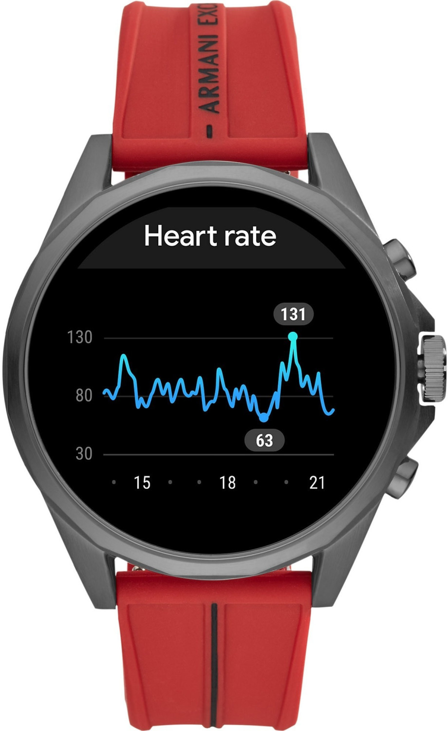 Image of Armani Exchange Connected Touchscreen 46mm Red (AXT2006)