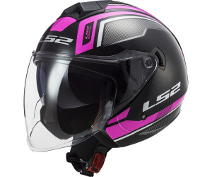 53//54 LS2 OF573 Twister Combo Jethelm Pink XS