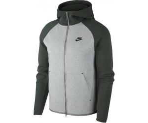 Buy Nike Men S Full Zip Hoodie Tech Fleece Dark Grey Heather Galactic Jade Black From 97 56 Today Best Deals On Idealo Co Uk
