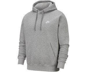 New Men/'s Nike Club Fleece Pullover Hoodie Dark Grey Heather//White 804346-063