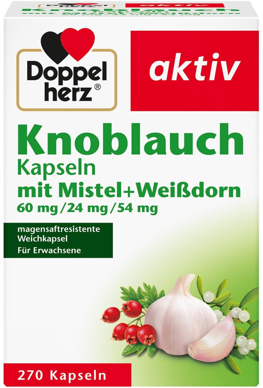 Knoblauch Mistel Weissdorn Kapseln (270 Stk.)