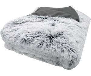 ZOLLNER XXL-Kuscheldecke 220x240cm grau/weiß