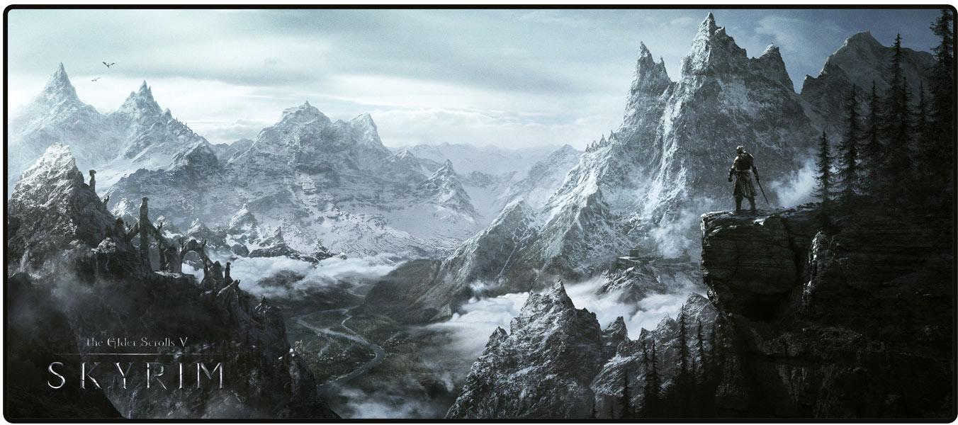 Image of Gaya Entertainment The Elder Scrolls V Skyrim Oversize Mousepad Valley