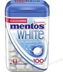 Mentos Always White Kaugummi-Dragees zuckerfrei (100 Dragees)
