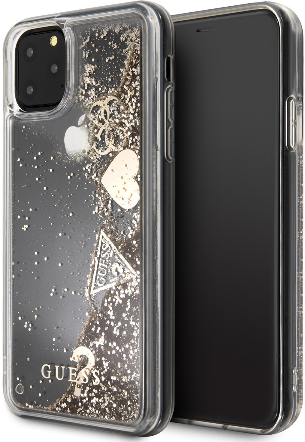 Image of Guess Cover Glitter Hearts (iPhone 11 Pro Max)