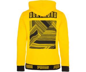 Cyber Yellow Puma Herren BVB FtblCulture Hoody Pullover S