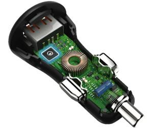 2,4 A Hama Chargeur USB avec fonction compte /à rebours 2 ports USB