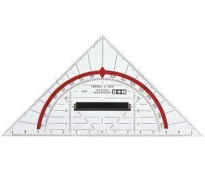 WEDO Geometrie-Dreieck 25cm mit abnehmbarem Griff