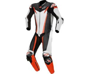Alpinestars GP Tech v3 Tech-Air 1-Teiler Perforierte Motorrad Lederkombi Schwarz//Rot 48