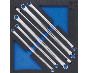 SW 10 x 11 mm Doppel-Maulschl/üssel CV-Stahl BGS 1184-10x11