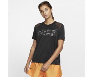 Nike Laufshirt »miler Metallic« Schwarz-silberfarben