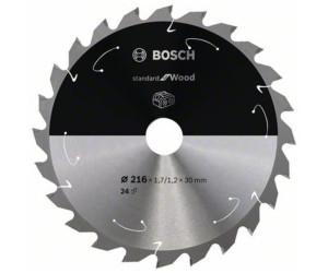Bosch Kreissägeblatt für Akkusägen Expert for Wood 216x30x1.7//1.2 mm 24 Zähne