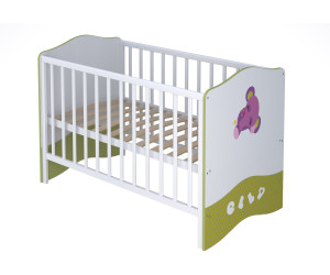 Polini Kids Babybett Basic Elly weiß/grün