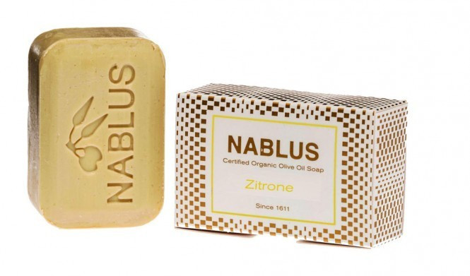Nablus Olivenseife Zitrone  (100g)