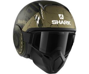 Shark Motorradhelm STREET DRAK CROWER Mat GKG M Schwarz//Grun