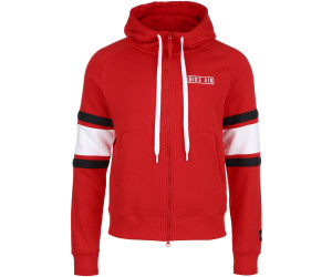 Nike Air Men's Full Zip Fleece Hoodie university redwhite
