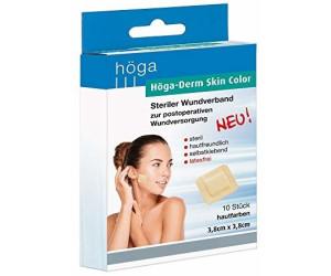 Höga Derm Skin Color 3,8x3,8cm steriles Pflaster (10 Stk.)