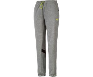 Puma HIT Feel It Knitted Training Sweatpants Women medium gray heather/yellow a