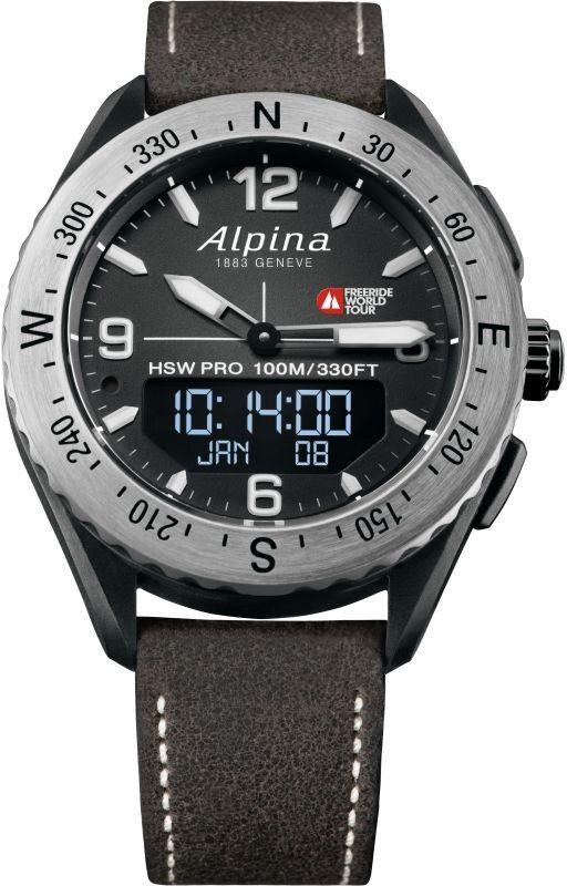 Image of Alpina AlpinerX Bluetooth Smartwatch Freeride World Tour Limited Edition Black