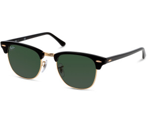a87a7ef5ab Buy Ray-Ban Clubmaster RB3016 W0365 (black gold green) from £73.49 ...