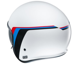 Negro//Blanco//Azul XS Casco de moto HJC V30 EQUINOX MC2SF