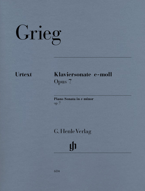 #Henle Verlag Edvard Grieg Klaviersonate e-moll op. 7#
