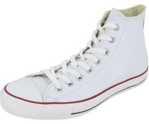 Converse Chuck Taylor All Star High Leather Herren Sneaker Rot  Schwarz  Weiß