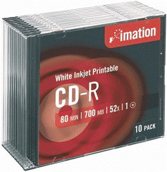 Imation CD-R 700MB 80min 52x bedruckbar 10er Sl...
