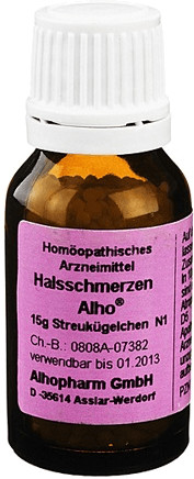 Alhopharm Halsschmerzen Globuli (15 g)